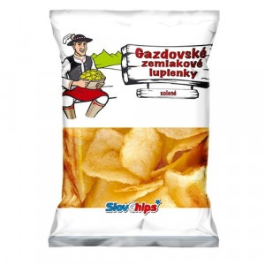 Gazdovské zemiak. lupienky solené SlovChips 75 g 11
