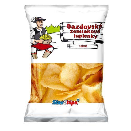 Gazdovské zemiak. lupienky solené SlovChips 75 g 1