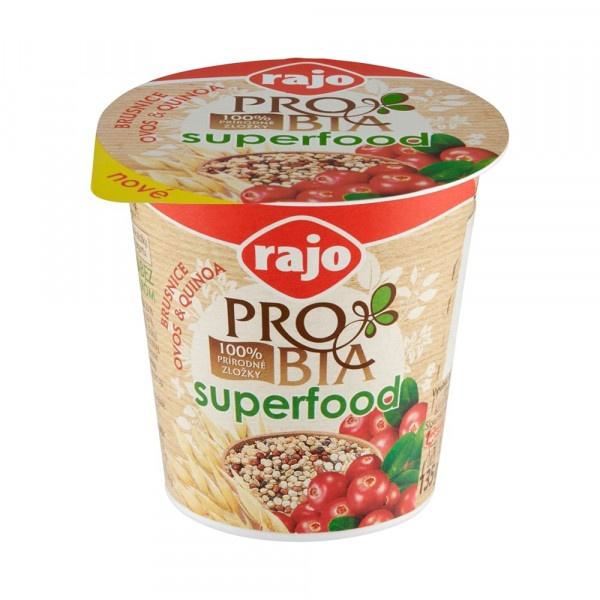 Jogurt PROBIA SUPERFOOD Brusni. RAJO 135g VÝPREDAJ 1