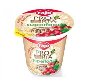 Jogurt PROBIA SUPERFOOD Brusnica RAJO 135g 12