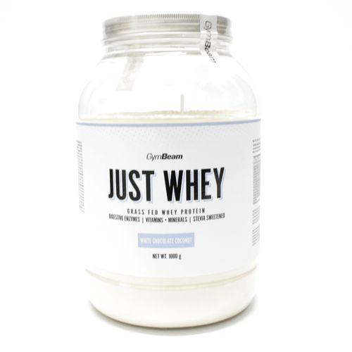 Just Whey Proteín 1000 g biel.čok. a kokos GymBeam 1