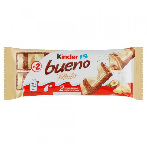 Kinder Bueno White v bielej čokoláde 2 x 19,5 g 1