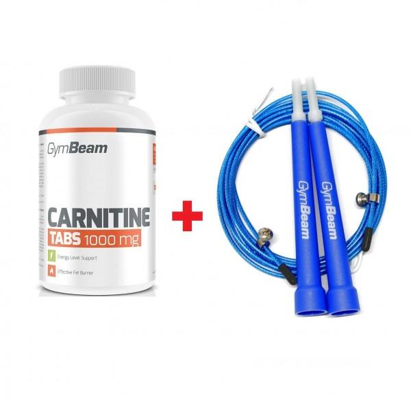 L-Karnitín 100 tab GymBeam + darček 1