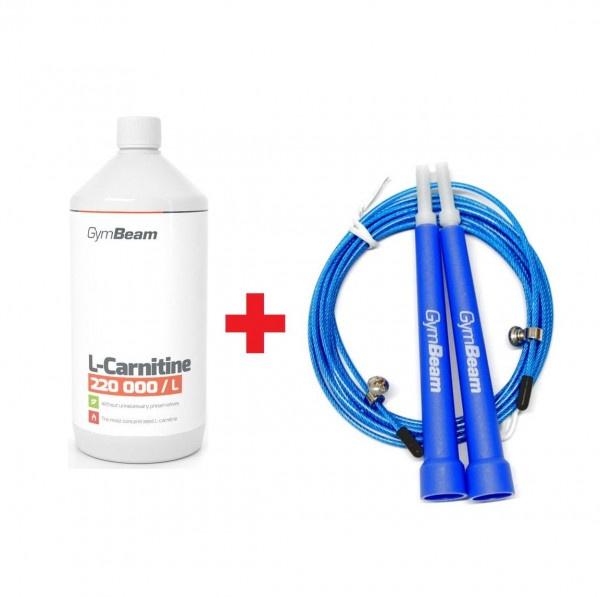 L-Karnitín Spaľovač tukov 500 ml GymBeam + darček 1