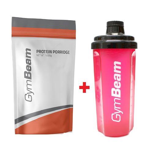 Proteínová kaša jahoda 1000 g GymBeam + darček 1