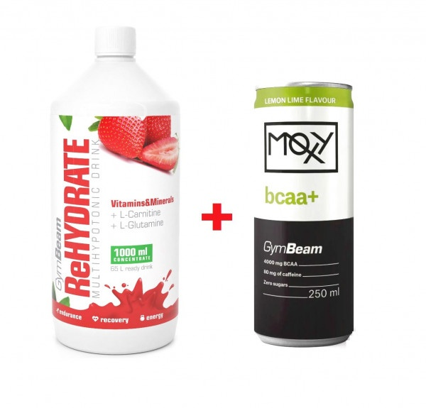 ReHydrate Iontový nápoj 1000 ml jahoda + darček 1