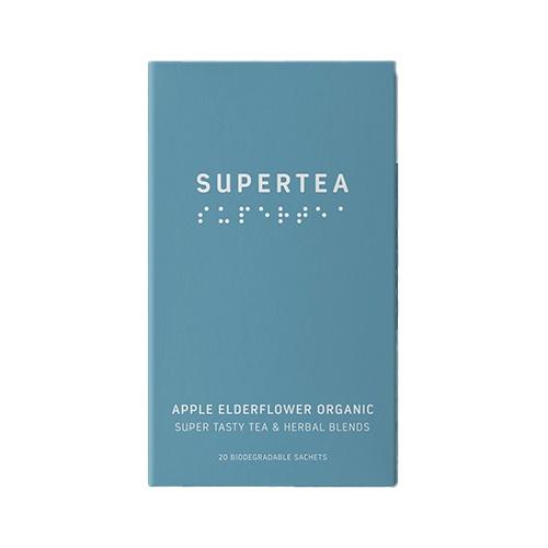 SUPERTEA Zelený čaj bazový kvet a jablko 30g 1