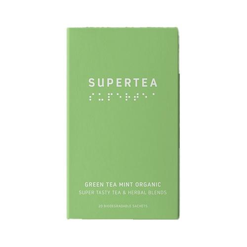 SUPERTEA Zelený čaj mäta a pepermint 30g 1