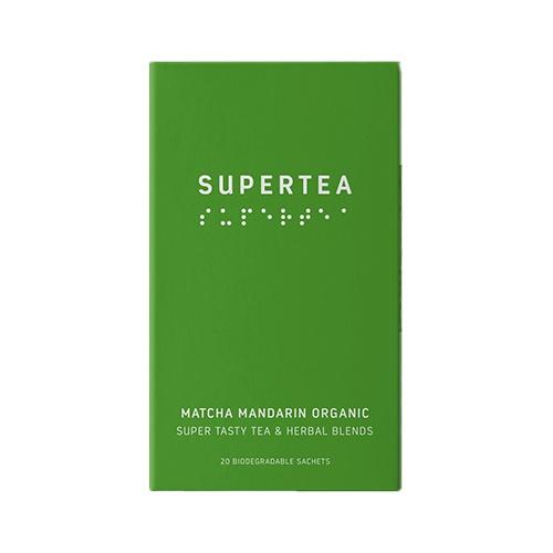 SUPERTEA Zelený čaj matcha a pomaranč 30g 1