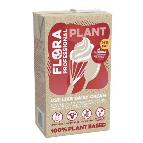 Smotana FLORA Plantcream rastlin. 31% 1l VÝPREDAJ 1