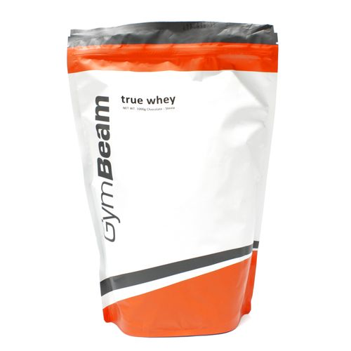 True Whey Proteín 1000 g čokoláda stévia GymBeam 1