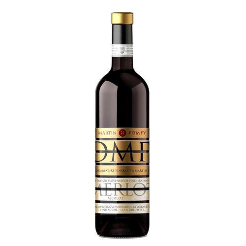 Víno č. Merlot suché, Mavín Martin Pomfy 0,75l SK 1