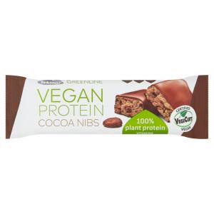 Tyčinka VEGAN PROTEIN kakaové bôby GREENLINE 40g 3