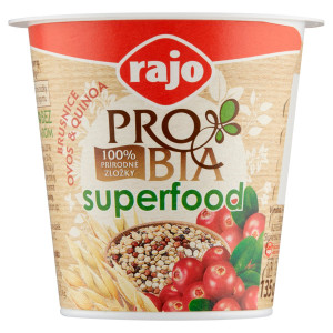 Jogurt PROBIA SUPERFOOD Brusnica RAJO 135g 2