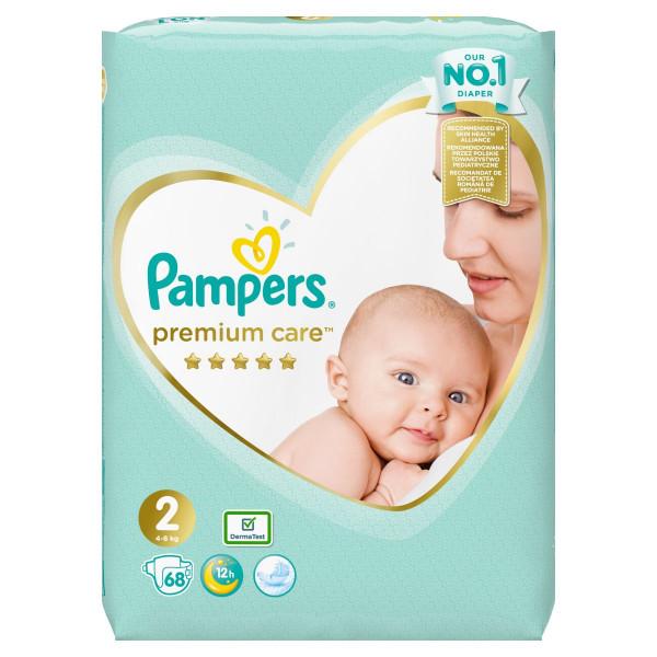 Pampers Premium Care Veľ.2, 4-8kg, Plienky 68ks 1