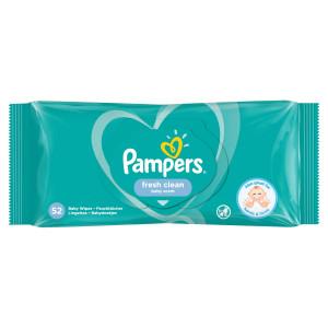 Pampers Fresh Clean, vlhčené obrúsky 52 ks 1