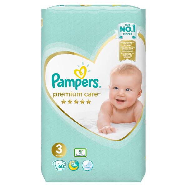 Pampers Premium Care Veľ.3, 6-10kg, Plienky 60ks 1