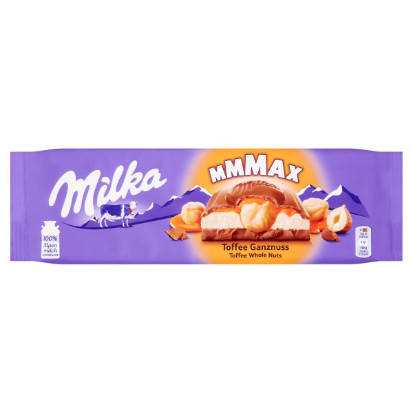 Milka Mmmax Toffee Whole Nuts,oriešky a karam.300g 1