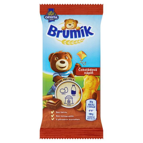 Opavia Brumík Čokoládová náplň jemné pečivo 30 g 1