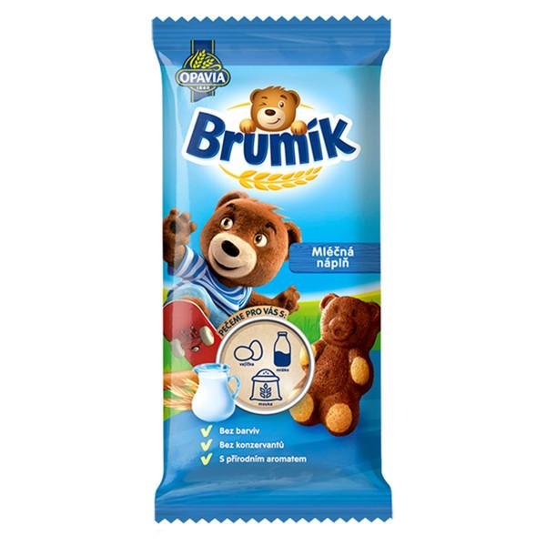 Opavia Brumík Mliečna náplň jemné pečivo 30 g 1