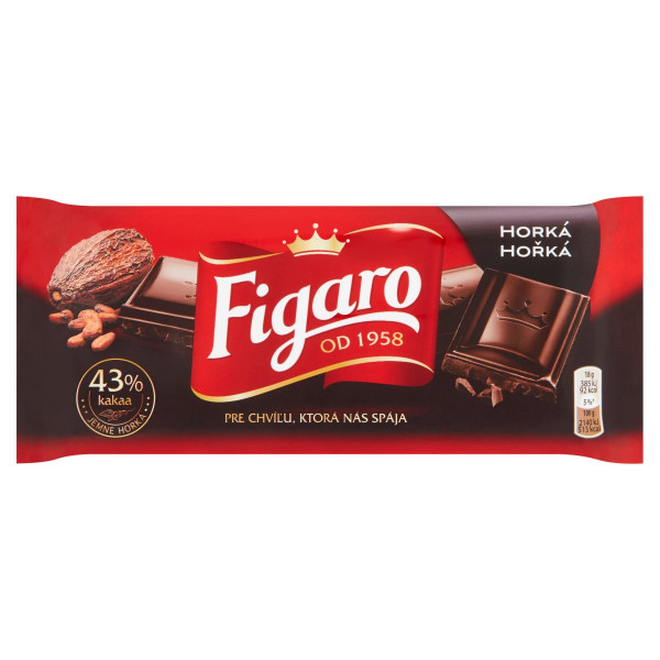Figaro horká čokoláda 43% kakaa 90 g 1