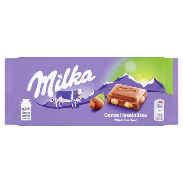 Milka Oriešková mliečna čokoláda, celé orieš. 100g 1