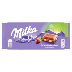 Milka Oriešková mliečna čokoláda, celé orieš. 100g 14