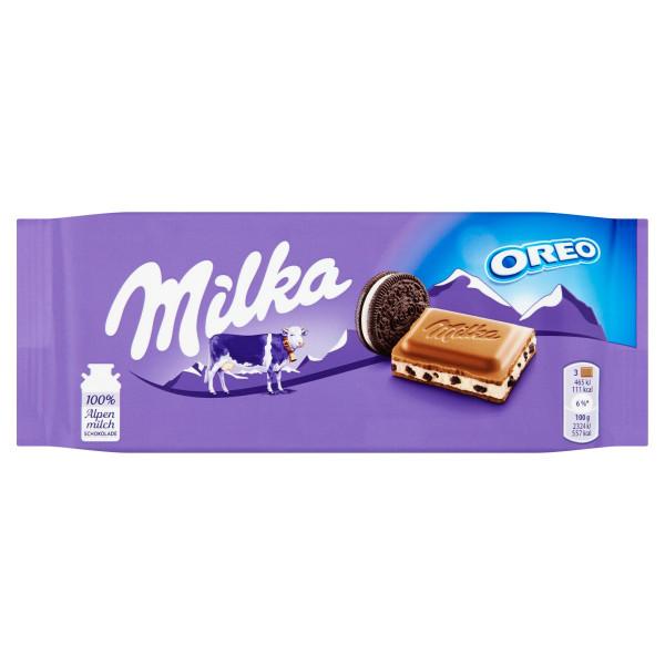 Milka Oreo mliečna čokoláda a sušienky 100 g 1