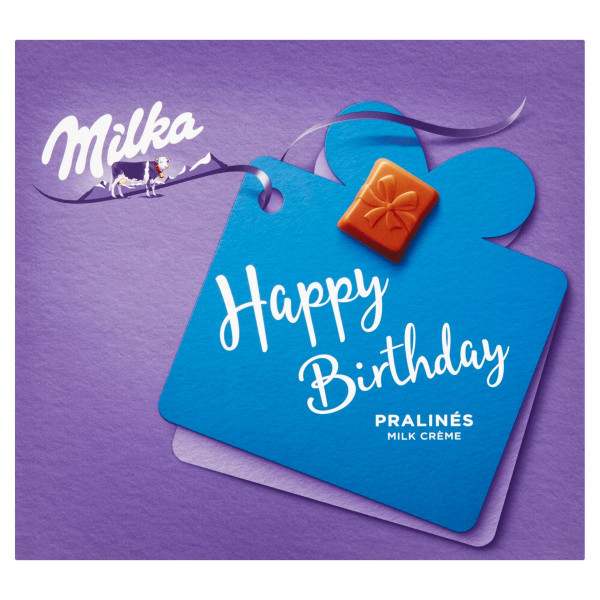 Milka Happy Birthday bonboniéra,mliečna náplň 110g 1