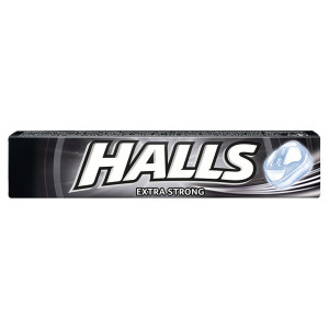 Halls EXTRA STRONG cukríky mentol a eukalyp. 33,5g 3
