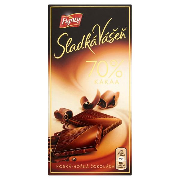 Figaro Sladká Vášeň horká čokoláda 70% kakaa 100 g 1