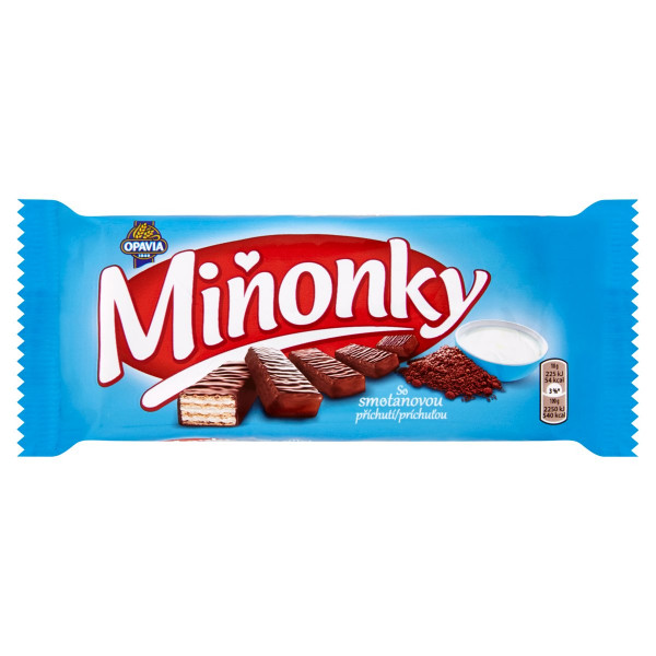 Opavia Miňonky Smotanové oplátky 50 g 1