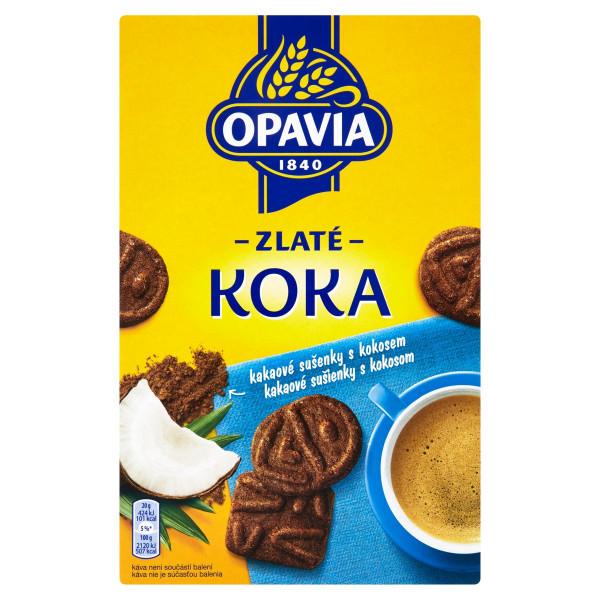 Opavia Zlaté Koka sušienky s kokosom s kakaom 180g 1