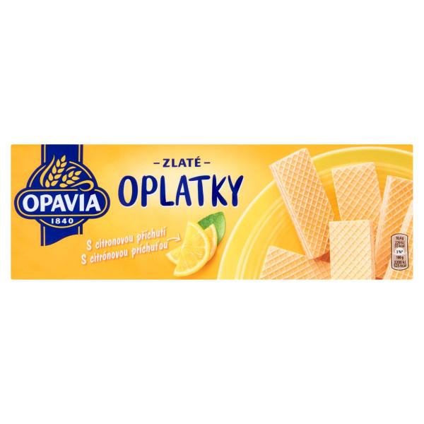 Opavia Zlaté Oplátky citrónová príchuť 146 g 1