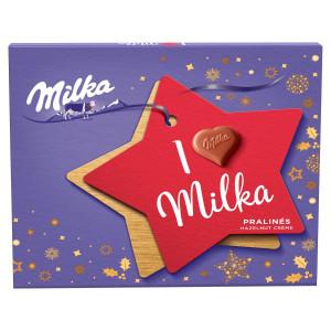 Milka I Love Milka bonboniéra, lieskovoorieš. 110g 12