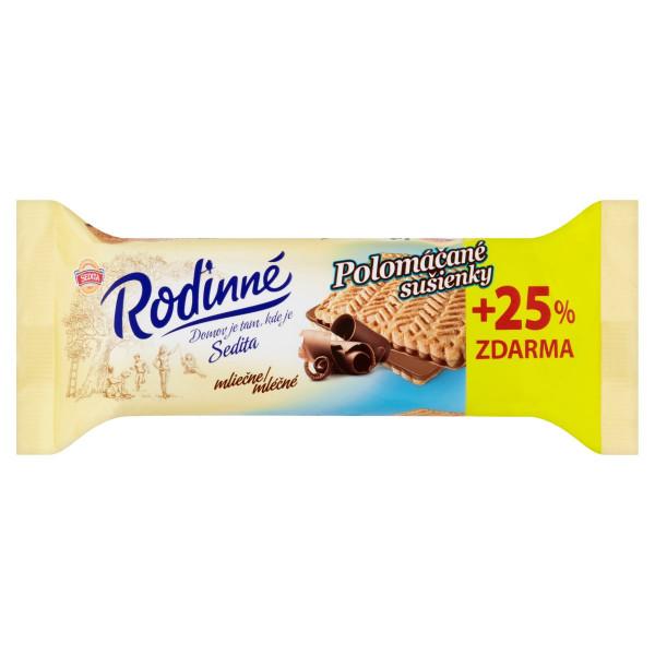 Rodinné Polomáčané sušien.mliečne,Sedita 100g+25% 1