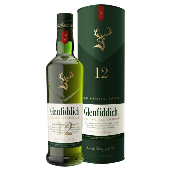 Glenfiddich Single Malt Scotch Whisky 12r 40% 0,7l 1