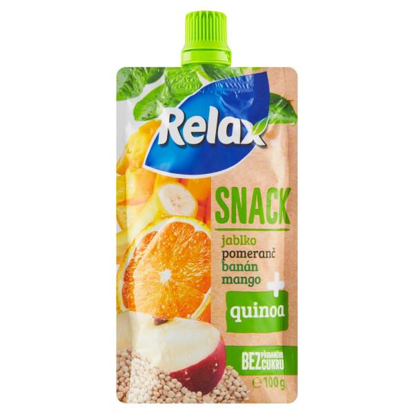 Relax Snack ovocné pyré s Quinou 100g 1