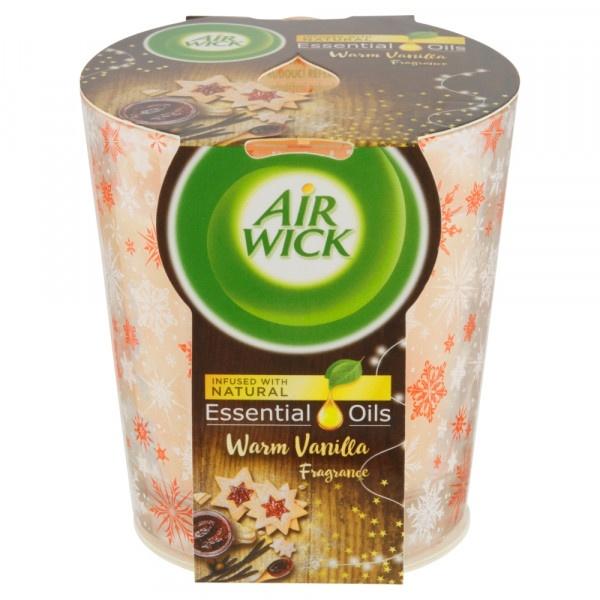 Vonná sviečka Air Wick Essential Oils Warm Vanilla 1