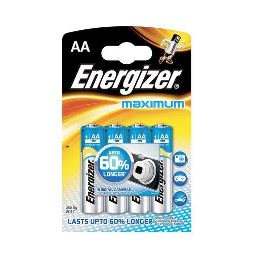 Batérie AA Maximum Alk 4ks Energizer 1