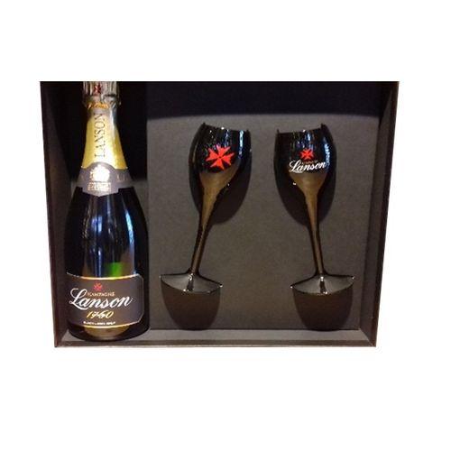 Champagne Black Label + 2 poháre číre 1
