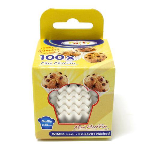 Cukrárenské košíčky papierové biele 35x20mm 100ks 1