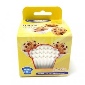 Cukrárenské košíčky papierové biele 50x30mm 100ks 2