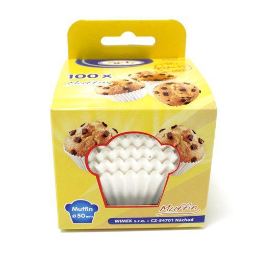 Cukrárenské košíčky papierové biele 50x30mm 100ks 1