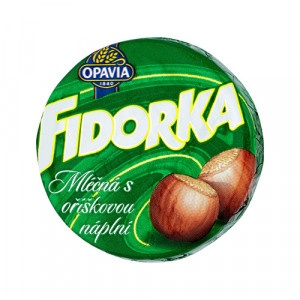 Opavia Fidorka Mliečna s orieškovou náplňou 30 g 9