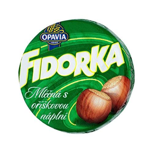 Opavia Fidorka Mliečna s orieškovou náplňou 30 g 1