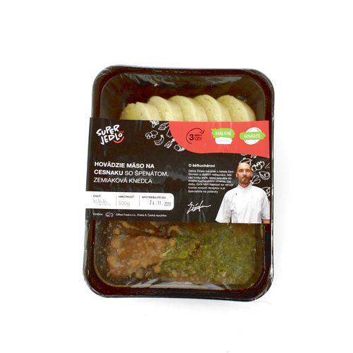 Hov.mäso na cesnaku, zem.knedľa 530g, Super Jedlo 2