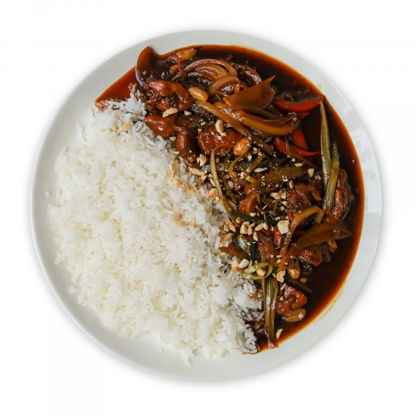 Kuracie kung pao s jazmín. ryžou 530g, Super Jedlo 2
