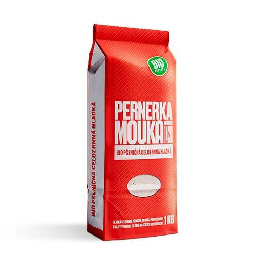 Múka BIO pšeničná celozrnná hladká PERNERKA 1kg 1