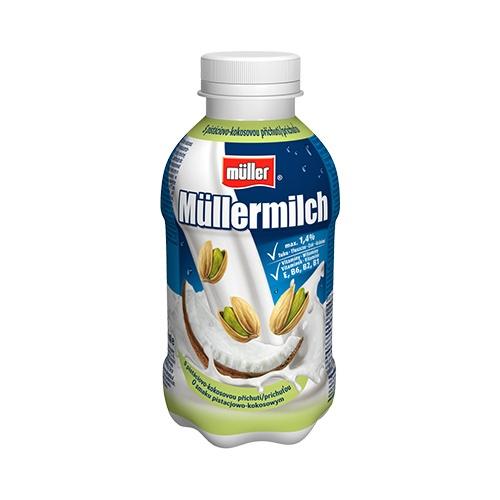 Müllermilch Mliečny nápoj pistácia a kokos 400 g 1